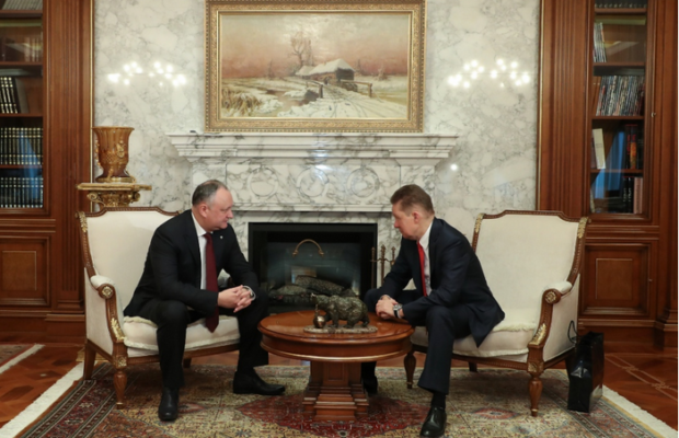 Gazprom, Moldova's President reviews ongoing and future cooperation in gas sector