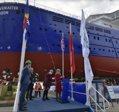 Bibby WaveMaster Horizon launched and named at Damen Shipyards Galati